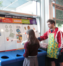 Zero waste lunch demo at Chabot