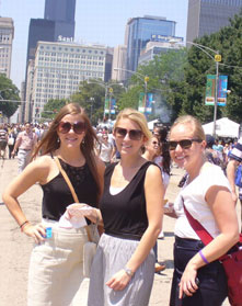 Staff-intern outing in Chicago