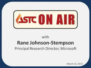 ASTC On Air-March 10, 2015