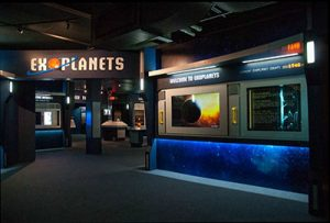 Exoplanets Exploration exhibition at the Boonshoft Museum of Discovery in Dayton, Ohio