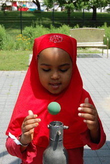 A young girl at COSI