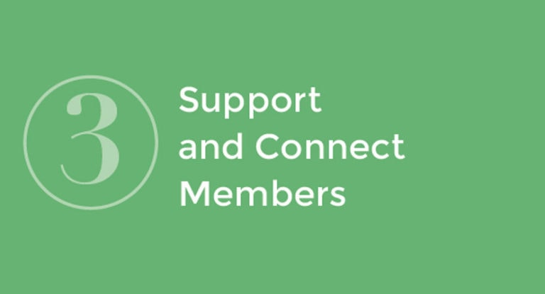 3: Support and Connect Members