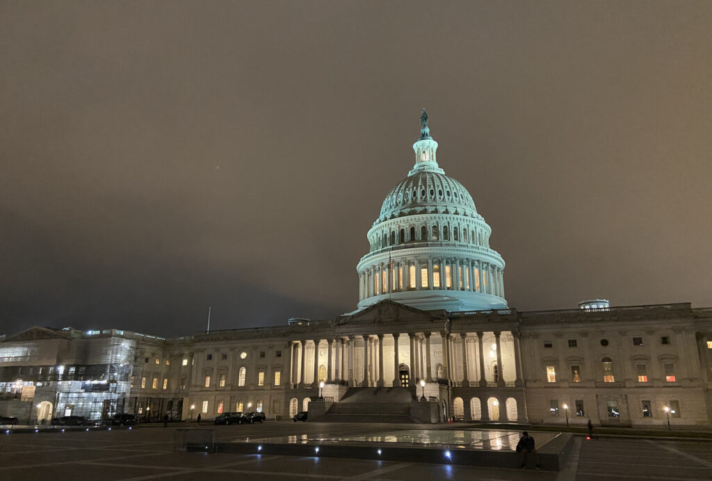 U.S. Capitol in fog