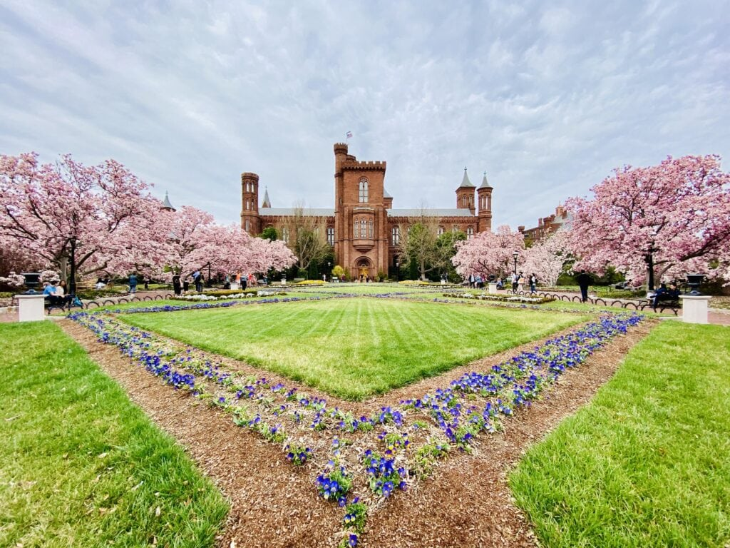 Smithsonian Castle in spring
