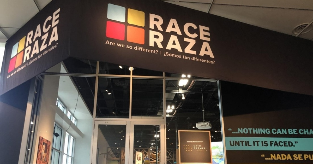 Photo of the entrance to the RACE exhibit